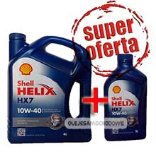 Shell Helix HX7 (Plus) 10W40 4L+1L MEGA PACK!