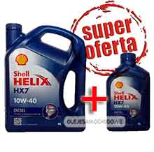 Olej do silnika Shell Helix HX7 Diesel (Plus) 10W40 4+1L MEGA PACK
