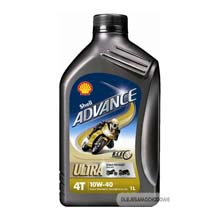 Shell ADVANCE Ultra 4T 10W40 1L Syntetyk