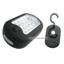 Latarka lampka magnetyczna 24 LED + 3 LED z haczykiem