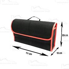 Organizer do bagażnika filcowy Duzy 53 x 16cm Czarny