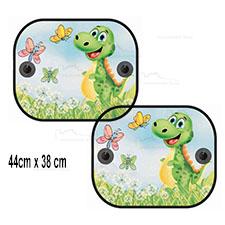 Zasłonki okrągłe kolorowe 2szt., roleta - Zielony Smok