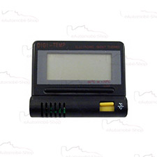 Termometr samochodowy  zewn/wewn. czarny z podświetleniem