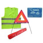 Niezbędnik, zestaw bezpieczeństwa /apteczka, trójkąt, kamizelka/