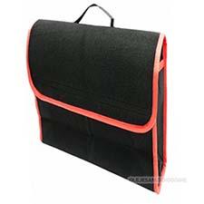 Organizer do bagażnika filcowy Mały 32 x 18cm Czarno-czerwony