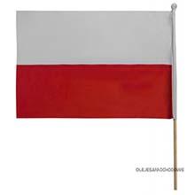Flaga Polski samochodowa z uchwytem 45x30 cm
