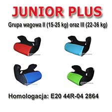 Podk�adka - Fotelik JUNIOR PLUS  Grupa 2-3 (15-36 kg)