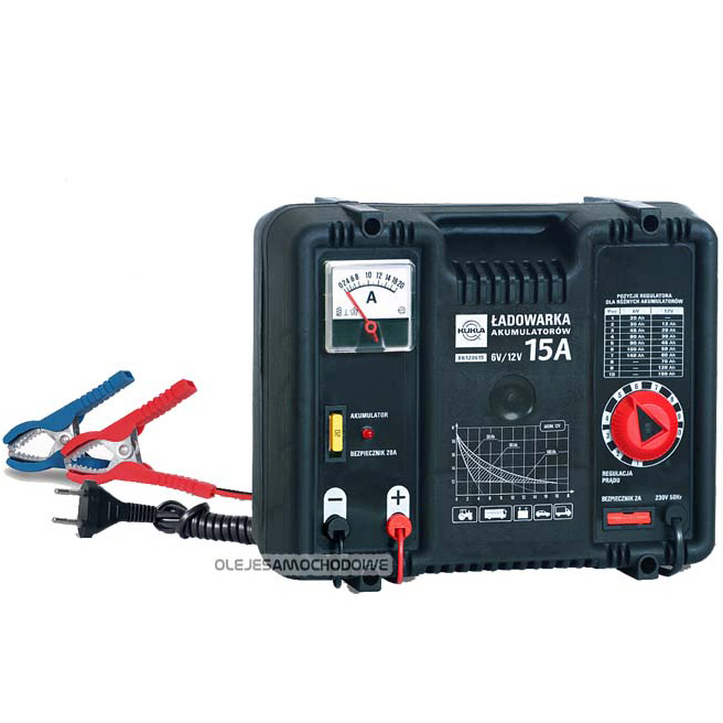 Ładowarka akumulatorów (prostownik) 12V/6V 15A