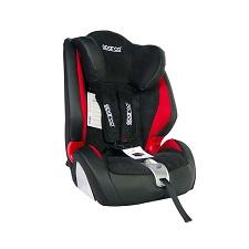 Fotelik dla dziecka F1000k Grupa 1-3 (9-36kg) szaro-czerwony PR