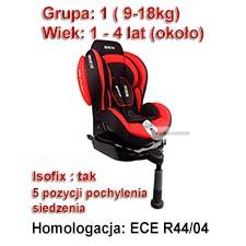 Fotelik dla dziecka F500i ISOFIX Grupa I (9-18kg) czerwony