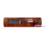 Termometr samochodowy  zewn/wewn. z zegarem (2kolory)