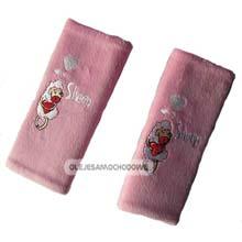 Nakładki, ochraniacze na pasy dla dzieci - różowe