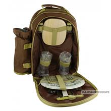 Turystyczny plecak piknikowy termiczny wyposa�ony dla 2 os�b