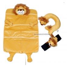 Zestaw samochodowy podr�ny dla dzieci z lwem (3 cz�ci)