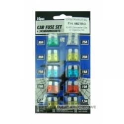 Bezpieczniki samochodowe p�ytkowe du�e (1kpl.)